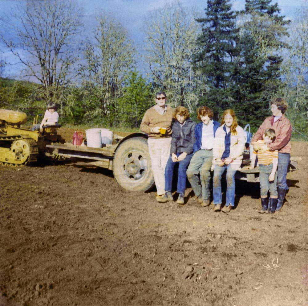 historical image - vineyard being planted in 1970's