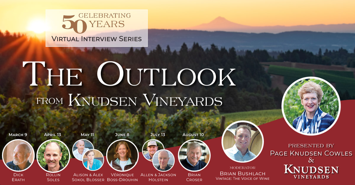 A wine webinar series from Oregon's Dundee Hills